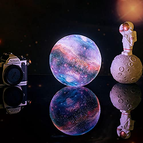 Luces De Noche Led,Dropship Nueva Llegada Impresión 3d Lámpara De Estrella Y Luna Cambio De Colores Táctil Decoración Para El Hogar Regalo Creativo Usb Luz De Noche Led Lámpara De Galaxia