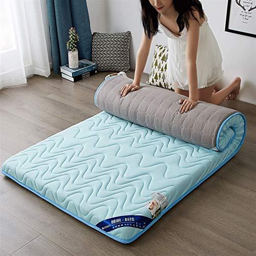 dongyu Colchón de espuma viscoelástica plegable de alta densidad de rebote lento para el suelo, para dormir, dormitorio, tatami King tamaño Queen (tamaño: 100 x 200 cm, color: C)