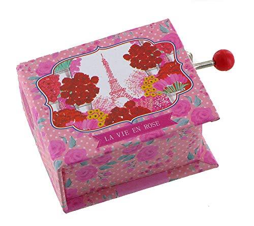 Caja de música con manivela en forma de libro (Ref: 1629) – La vie en Rose (Louiguy/Edith Piaf)