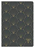 Clairefontaine 192536C Notizbuch Neo Deco Herbst Winter Kollektion, mit Fadenbindung, 14,8 x 21 cm, liniert, 48 Blatt, 90g, elfenbeinfarbiges Papier, 1 Stück, Grau mit Muschelmotiven
