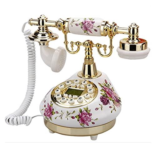 Blanco Antiguo Teléfono Teléfonos Hogar de Hogar de Lanzamiento Vintage Clásico Cerámica Teléfono Teléfono Antiguo Oficina Inicio Oficina Tiendas de Arte Regalo (Color : White Telephone)