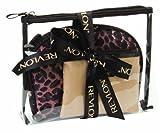 Revlon - Juego de 3 neceseres de Viaje, diseño de Leopardo