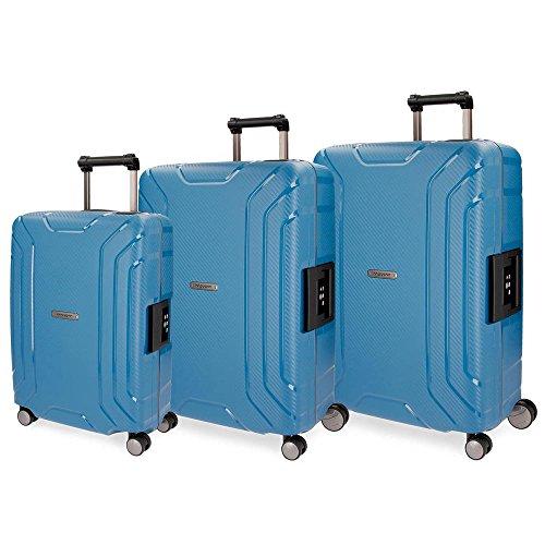 Movom Newport Juego de Maletas, 75 cm, 211 litros, Azul