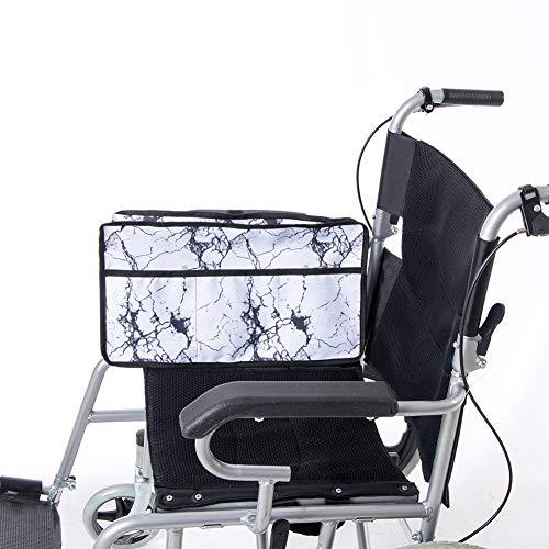 Bolsa lateral universal para silla de ruedas, bolsa de andador, bolsa organizadora para personas mayores, personas mayores, discapacitadas, bolsa para silla de ruedas manos libres HGJ257