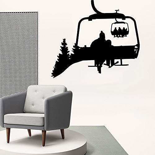 mlpnko Neue Seilbahn Wandaufkleber, stilvolle Wandaufkleber für Kinderzimmer Dekoration, Wandkunst Wandbild,CJX11125-28x31cm