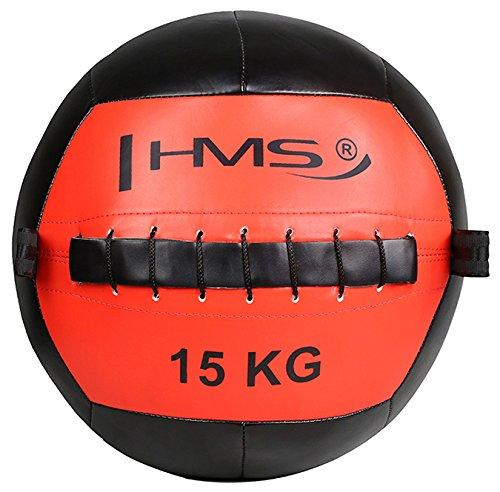 HMS 17-41-030 5907695518320 - Bola de Pared para Ejercicio, Color Rojo y Negro, Talla única
