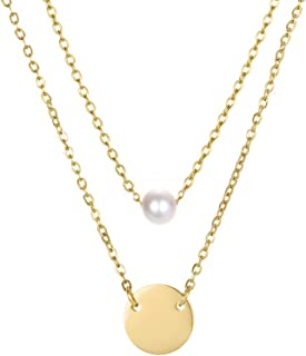 Best thin layered necklace Reviews