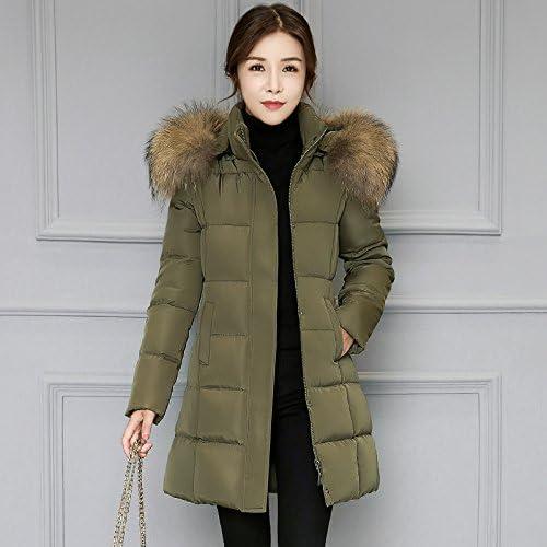 Xuanku Les Femmes dans Les Campagnes Longue Veste Femme, Femme Manteau en Coton épais Sau San Robe Sauvagel,gris