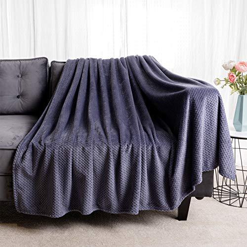 BATTILO HOME Fleece Blanket Waffle Flannel Fleece Velvet Plush – Lightweight, – Soft, Plush, Fluffy, Warm, Cozy – Perfect Full Size Throw for Couch, Bed, Sofa