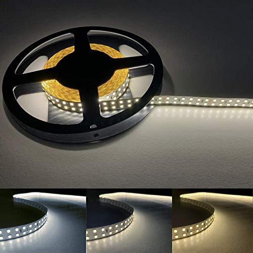 Ruban LED 5M 24V 2835 IP20 Double Rangée 240LED/m - Blanc Neutre 4000K - 5500K - SILAMP