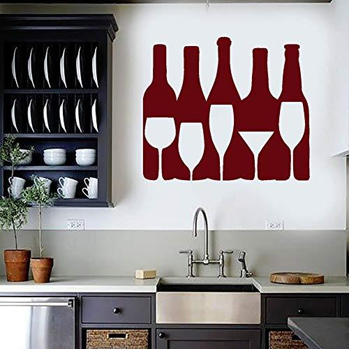 yaonuli wijnhandel vinyl wandtattoo wijnfles drank glazen wand venster sticker wanddecoratie