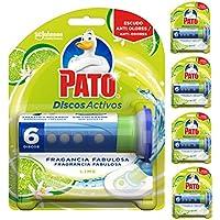 Pato - Discos Activos WC Lima, Aplicador y Recambio con 6 Discos (Pack de 5)