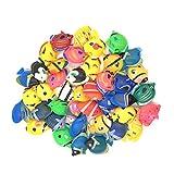 Peces de plástico,12 piezas Peces Mini Realistic Animales Marinos de...
