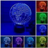 3D LED Lamp, Globe led 3D Illusion lamp Night Light 7 Color Light for Kids and Home Decoration