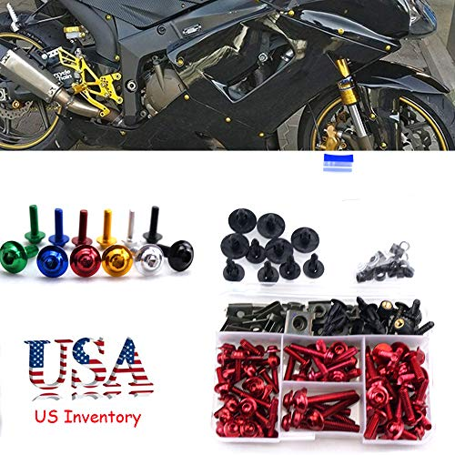 Complete Bolt Motorcycle Fairings Clips Kits 1Set M5 M6 For Suzuki RF 900 R RF900R RF 900R RF900 R 1993-1999