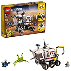 This LEGO Creator 3in1 Space Rover Explorer 31107 set encourages kids' creative play, featuring 3 models in 1, a Space Rover Explorer, space base or space flyer; Building and rebuilding extends the play endlessly Kids can stretch their creativity and...