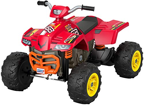 Fisher-Price Power Wheels Hot Wheels Racing ATV 12-V Battery Powered Ride-on Vehicle for Preschool Kids Ages 3-7 Years