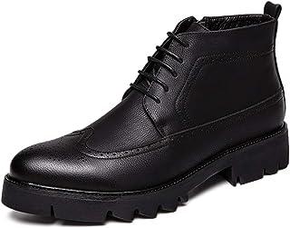 ventas de salida CHENJUAN CHENJUAN CHENJUAN Zapatos Botines de Moda para Hombre Casuales y cómodos Cremallera Lateral Parte Superior empacada botas de Gran tamao  promociones de descuento