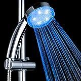 Alcachofa de ducha LED que se ilumina cuando se enciende el agua, ahorra agua, instalaciones de baño con degradados de colores RGB, para baño y spa