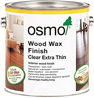 Osmo Wood Wax Finish Extra Thin - 1101 Clear - .75 Liter