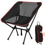 TXIN Klappbarer Campingstuhl -Faltbar Camping Kinder Erwachsene Stühle-Outdoor Stuhl Für Rucksackreisen Bis 120kg Belastbar