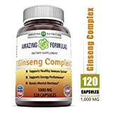 Amazing Nutrition Ginseng Complex - 1000 mg per Serving - Supports...