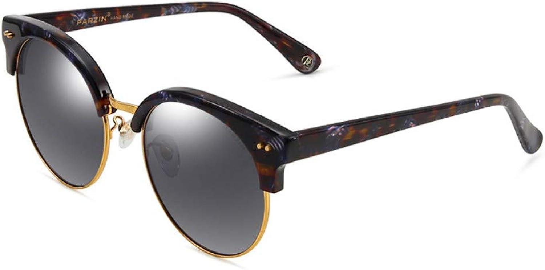 Sunglasses Female Fashion Polarizer Large Box Plate Modern Retro Trend Sunglasses Driver Driving Mirror Black Box Purple