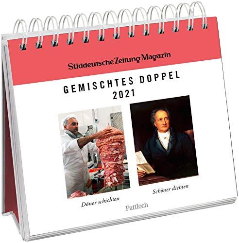 Gemischtes Doppel 2021 - Postkartenkalender: Wochenkalender zum Aufstellen, Spiralbindung, m. 53 Postkarten zum Heraustrennen, Verschicken & Verschenken
