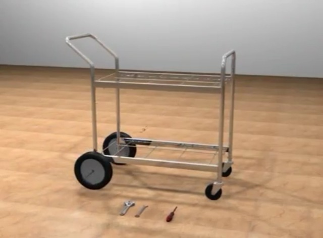 Charnstrom Compact Dual Handle Wire Basket Cart M241