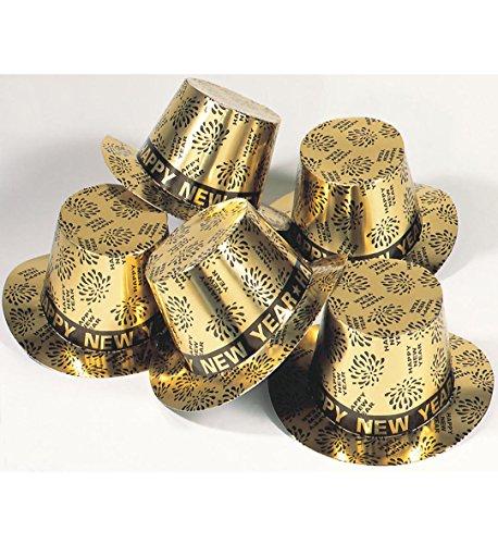 Widmann Generique - Chapeau Haut de Forme doré Happy New Year