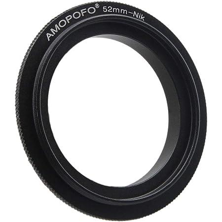 D5300 D5200 D610 D3300 D5500 D810 D750 Df D7200 D7000 D5600 Anillo adaptador de rosca de filtro Nikon Macro de montaje inverso y para Nikon D7500 D7100