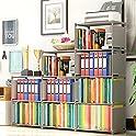 OppsDecor 4 Tier 9-Cubes Shelf Adjustable DIY Bookcases