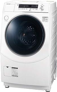 シャープ 洗濯機 ドラム式 ES-H10E-WR ヒーター乾燥 右開き(ヒンジ右) DDインバーター搭載 ホワイト 洗濯10kg/乾燥6kg 幅640mm 奥行729mm