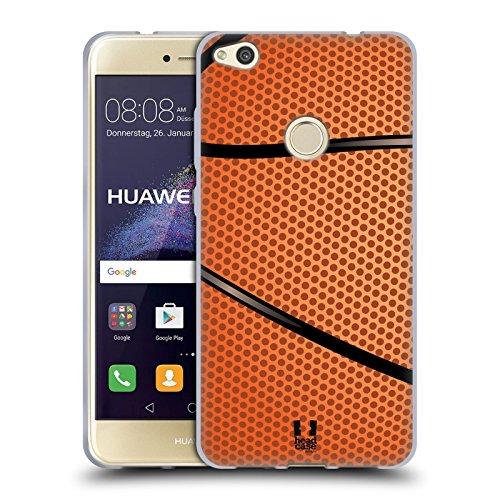 Head Case Designs Baloncesto Colección de Bolas Carcasa de Gel de Silicona Compatible con Huawei P8 Lite (2017)