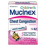 Mucinex Children's Chest Congestion Mini-Melts Bubble Gum Flavor - 12 Each, Pack of 4