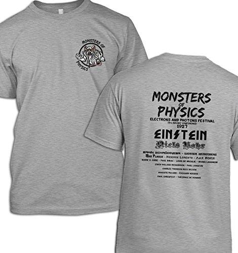 Monsters of Physics T-Shirt Gr. (97 cm/ 102 cm) Medium, Grau - Sport Grey