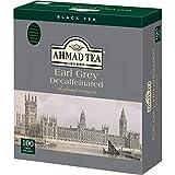 AHMAD TEA ( アーマッドティー ) デカフェ アールグレイ ティーバッグ 100袋入り [ カフェインレス タイプ 個包装 ]