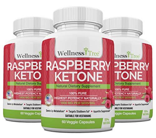 Raspberry Ketones Max Strength 1600mg - Appetite Suppressant, Boost Energy & Metabolism (3 Pack)