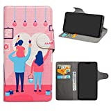 HHDY Asus Zenfone Max Pro (M2) Leder hülle, Painted Muster Wallet Handyhülle mit Kartenfächer/Standfunktion Hülle Cover für Asus Zenfone Max Pro (M2) ZB631KL,Family