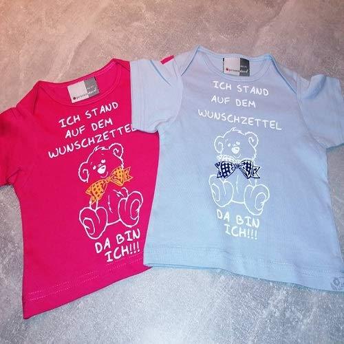 Beschriftungsspezi Baby T-Shirt mit süßem Teddy und Spruch
