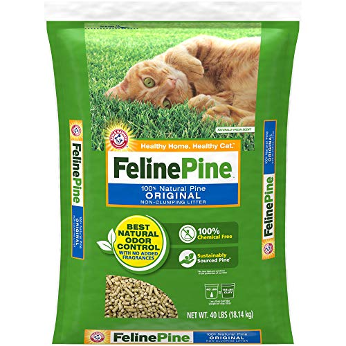 Feline Pine Original Cat Litter 40LB, Blacks & Grays (643004)