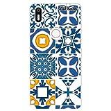 dakanna Funda Compatible con [ Bq Aquaris X5 Plus ] de Silicona Flexible, Dibujo Diseño [ Azulejos clásicos ], Color [Borde Transparente] Carcasa Case Cover de Gel TPU para Smartphone