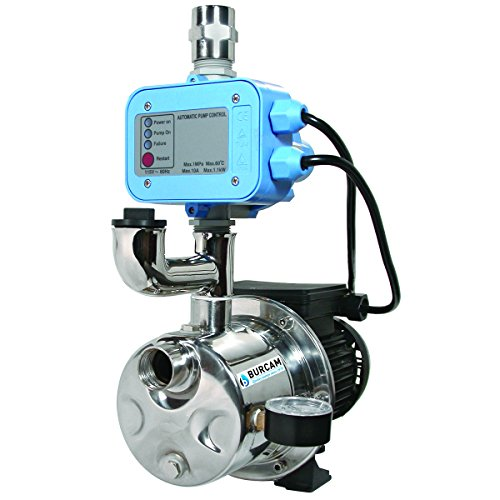 BURCAM 506532SS 3/4 HP Dual Application Tankless Shallow Well Jet and Booster Pump