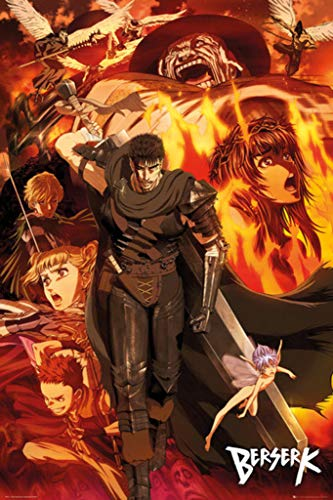 POSTER STOP ONLINE Berserk - Manga/Anime TV Show Poster/Print (Character Collage) (Size 24' x 36')