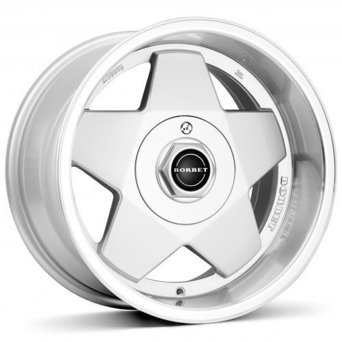 Borbet A silver polished 9x16 ET15 4.00x108 Hub Bore 72.60 mm - Alu felgen