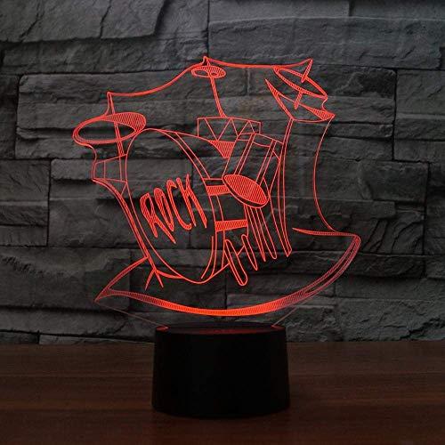 Tafellamp, visueel 3D-knop, nachtlampje, masker, brandweer, modelled, 7 kleuren, wisselende verlichting, kinderen, kerstcadeau, decoratie