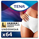 Tena Incontinence Underwear for Women, Super Plus Absorbency, Large, 64 Count