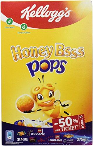 Kellogg's Honey BSSS Pops | Crunchy Cornflakes mit Honiggeschmack | 6er Vorratspackung (6 x 375g)