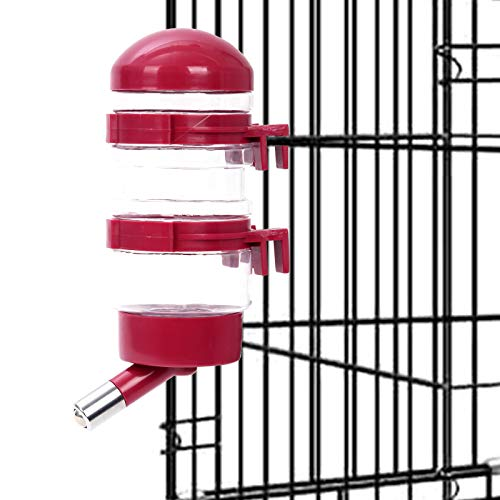 Dispensador de agua de la perrera, sin goteo botella de agua contenedor ABS material libre BPA 15oz para animales pequeños