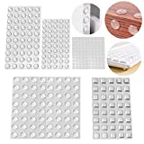 Lagrimas Silicona, Topes adhesivos de protección, Almohadillas de goma transparente, puerta de cocina, baño, oficina, amortiguadores de ruido (5 tamaños-304 Piezas)